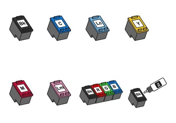 Ink Cartridge Icon - vector #402789 gratis