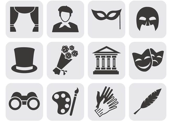 Free Theater Acting Perform Icons Vector - vector gratuit #402799