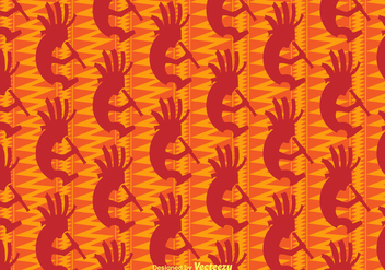 Free Kokopelli Vector Background - Free vector #402839