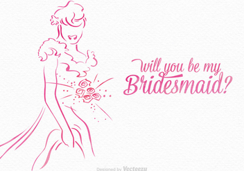 Free Will You Be My Bridesmaid Vector - Kostenloses vector #402859