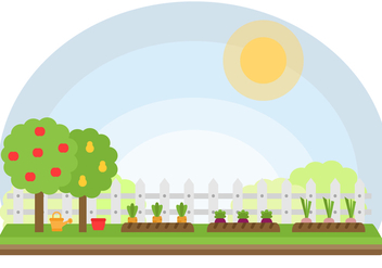Free Vegetables Garden Vector - vector gratuit #402899