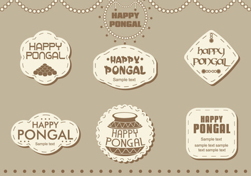 Stickers Happy Pongal - Kostenloses vector #402929
