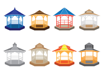 Gazebo Vector Icons - бесплатный vector #402989