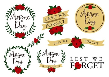 Anzac Template Free Vector - Free vector #403009