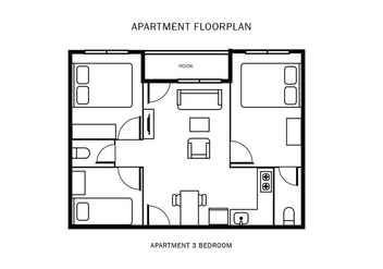 Apartment Floorplan - vector gratuit #403039