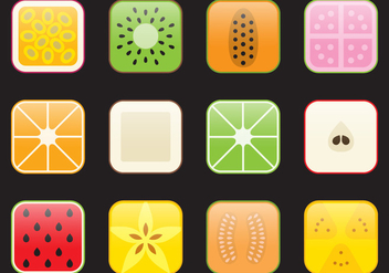 App Fruit Icons - vector #403119 gratis