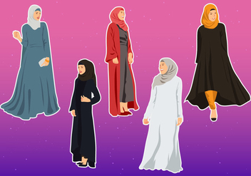 Vector Illustration Of Abaya - бесплатный vector #403159