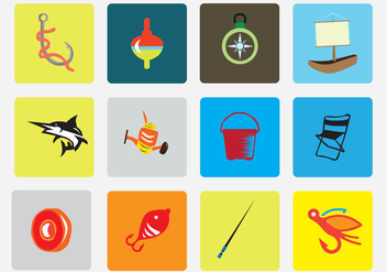 Fishing Vector Icon Pack - vector #403199 gratis