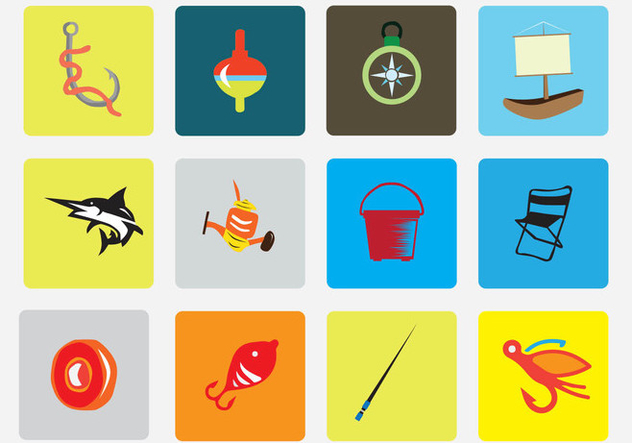 Fishing Vector Icon Pack - Free vector #403199