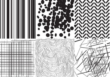 Black and White Textures - бесплатный vector #403209