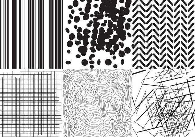 Black and White Textures - vector gratuit #403209