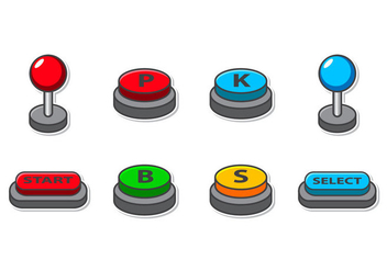 Free Arcade Button Icon Vector - Kostenloses vector #403359