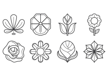 Free Flower Icon Vector - Free vector #403369