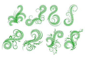 Free Palm Leaves Elements Vector - бесплатный vector #403379
