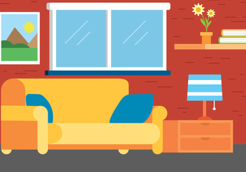 Free Flat Design Vector Room Design - Free vector #403409