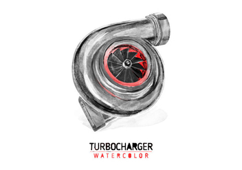 Free Turbocharger Watercolor Vector - vector gratuit #403609