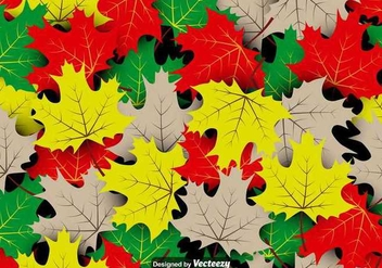 Vector Seamless Pattern Of Maple Autumn Leaves - Free vector #403619
