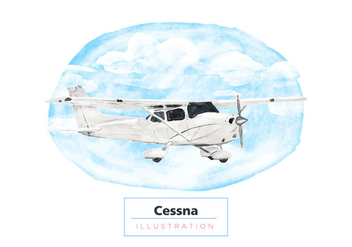 Free Cessna Watercolor Vector - Free vector #403649