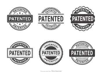 Free Patented Vector Rubber Stamps - vector gratuit #403709