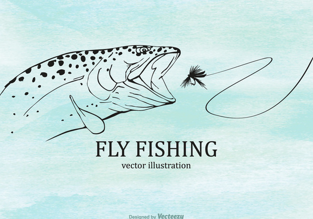Free Fly Fishing Vector Illustration - Free vector #403719