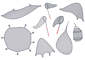Free Fish Net Vector - бесплатный vector #403759