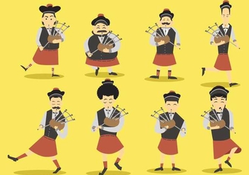 Free Bagpipes Vector Set - Free vector #403779
