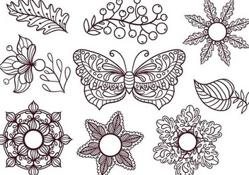 Free Coloring Elements Vectors - vector #403799 gratis