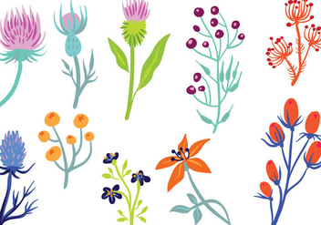 Free Wildflower 2 Vectors - бесплатный vector #403829