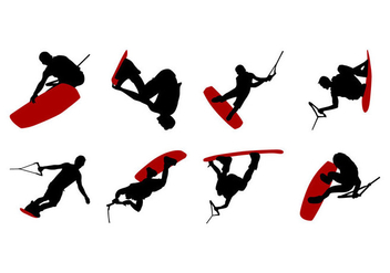 Free Wakeboarding Silhouettes Vector - бесплатный vector #403839