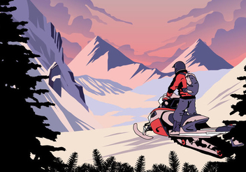 Snowmobile Winter Sport - vector gratuit #403929