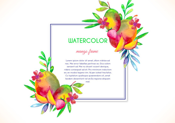 Free Vector Watercolor Mango Frame - Kostenloses vector #404059