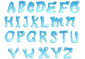 Blue Water Font Vector - Free vector #404119