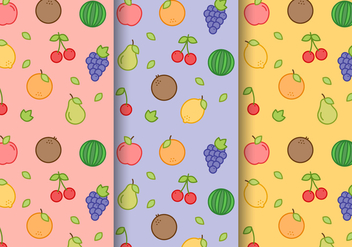 Free Fruit Pattern Vector - Free vector #404139