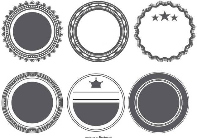 Vector Badge Shapes Collection Free Vector Download 404199 | CannyPic