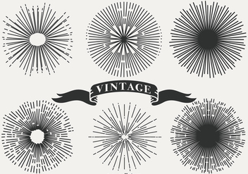 Vintage Sunburst Shapes - бесплатный vector #404219