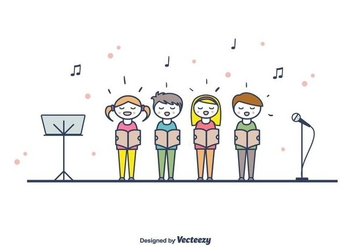 Children Choir Vector - vector gratuit #404299
