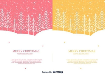 Merry Christmas Vector Background - vector gratuit #404349