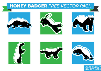 Honey Badger Free Vector Pack - vector #404369 gratis