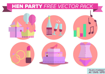 Hen Party Free Vector Pack - бесплатный vector #404389