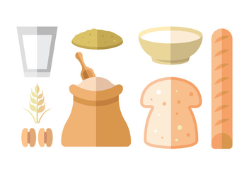 Oats Meal Vector Icon Pack - vector #404439 gratis