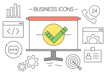 Free Business Icons - vector gratuit #404589