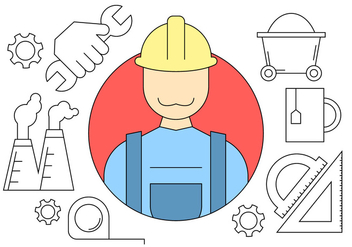 Construction Engineering Icons - vector #404609 gratis