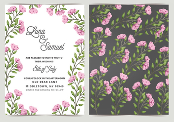 Vector Wedding Invitation - vector gratuit #404649