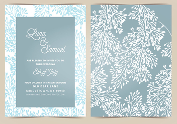 Vector Wedding Invitation - Free vector #404659
