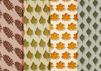 Vector Fall Leaves Patterns - vector gratuit #404669