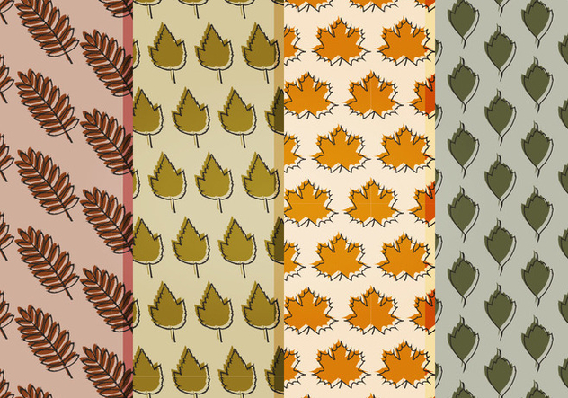 Vector Fall Leaves Patterns - Kostenloses vector #404669