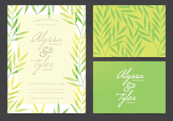 Vector Wedding Invite - vector gratuit #404679