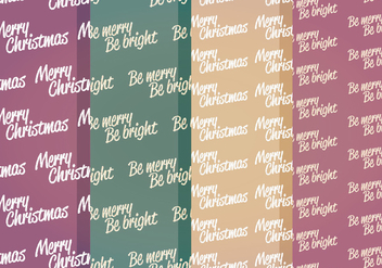 Vector Winter Messages Patterns - бесплатный vector #404689