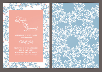 Vector Wedding Invitation - Kostenloses vector #404709