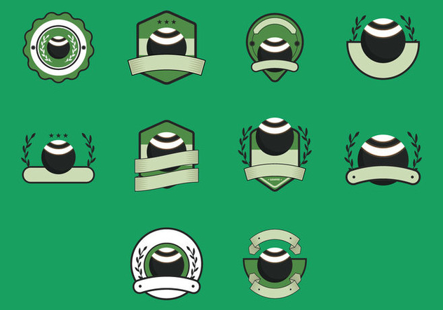 lawn bowls vintage templates icon free vector download 404739 cannypic